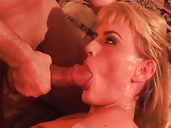 Horny slutty MILF loves to devour cock