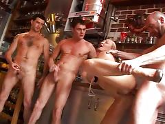 Nomi French Milf Gangbanged in the Kitchen