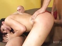 Roxanne Hall Milf fucked by Father and Son tube porn video