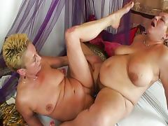 Chubby and old lesbian fun tube porn video
