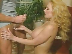 Rebecca Bardoux's tits creamed by Peter North porn tube video