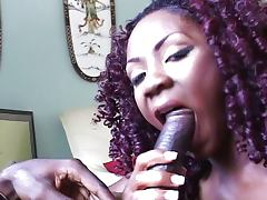 Hot black babe loves being fucked