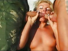 German lady fucked by two farmers tube porn video