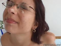 Golden Shower, Couple, Cumshot, Facial, Glasses, Peeing