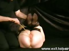 BDSM humiliation including a Fly Swatter porn tube video
