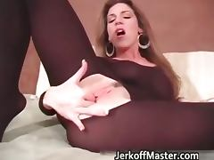 Hot sexy stockings great body brunette part3