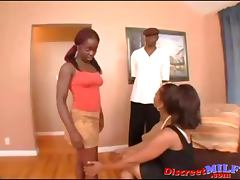 Mommy and girl Banged a Black Man