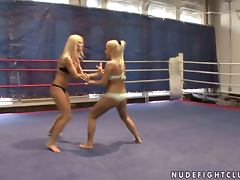 Catfight, Bikini, Blonde, Boobs, Bus, Catfight