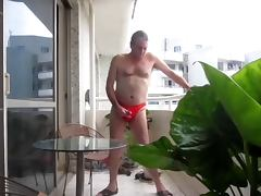 Wanking in my sexy underwear
