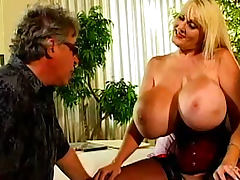 Hot blonde with gigantic boobs fucking hard tube porn video