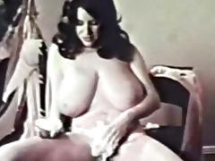 Classic Porn Busty Brunette Shaving porn tube video