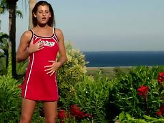 Pissing, Brunette, Outdoor, Pissing, Tight, Watersport