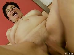What a Mess After Hardcore Fucking Session with Chubby Mature tube porn video