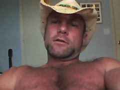 Sexy redneck Clay Towers wanking his hard cock