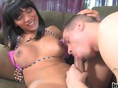 This Guy Finds Out His Babysitter's Transsexual porn tube video