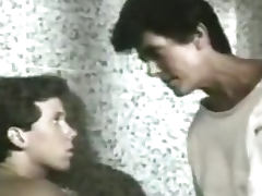 Kinky MILF Fucking Her Step Son In The Bath In Retro Vid