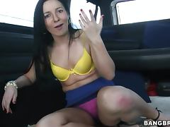 Ashli Orion gets fucked in a minivan after sucking a dick tube porn video