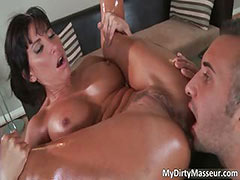 Awesome brunette MILF Lezley Zen tube porn video
