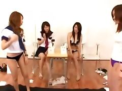 Asian teens classroom toying pussy