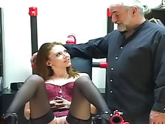 Old fart allows to young lady to make a blowjob porn tube video