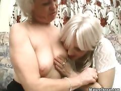 Two crazy grannies are feeling lesbian today tube porn video