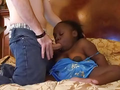Midget Lady K being fucked by white cock