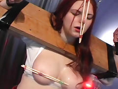 Redhed babe with tits torture body Kymora Lee