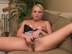 Blonde chick toy play