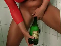 champagne bottle masturbating porn tube video