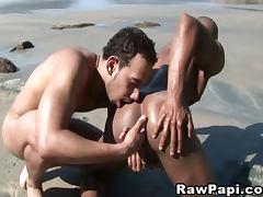 Latino Gay Hot Bareback Sex On The Sand