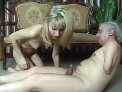 Old Man, Blonde, Blowjob, Cum, Cumshot, HD