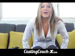 CastingCouchX dumb blonde coed needs money