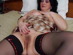 Sweet BBW Mature Fucks Herself Gently porn tube video