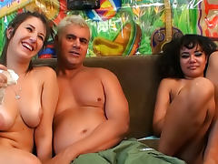 Annie Cruz VS Missi Daniels are two perverted cocksucking chicks porn tube video