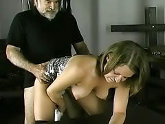 Young lady being fucked in her pussy by old fart porn tube video