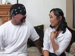 Bella Ling Ends Up With Her Face Covered By Cum