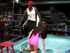 Babe Gets Gangbanged In The Gym