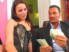 Luxury whore Claudia Rossi charges a lot for a double penetration
