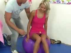 With you on fitness young blondie fucked ball the something