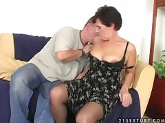 Dude Fucks Grandma and Cums On Her Bush tube porn video