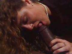 Redhead loves sucking big black dick