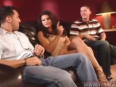 Kinky Milf Feels The Threesome Pleasure With Two Horny Guys