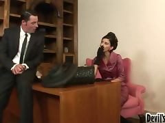 Jack Vegas and Nikki Daniels get naughty in the study