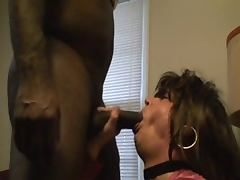 Amateur CD Crossdresser Riding Monster Black Cock porn tube video