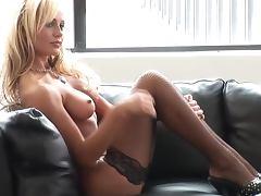 Sexy blonde Jurgita Valts boasts of her amazing body