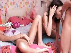Two russian chicks one huge penis