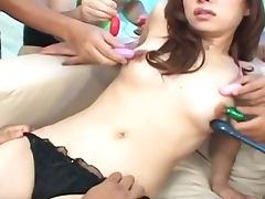Hairy Asian pussy slut nailed here