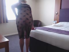 crossdresser lacy dress 1