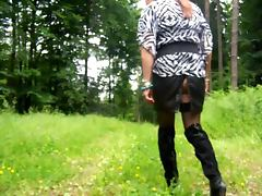 Outdoor Dildofuck tube porn video