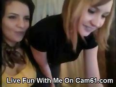 Hot Webcam Lesbian Teens Fondling Tits